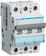 Автоматичний вимикач hager In=16А, 3п, D, 10 kA, 3м