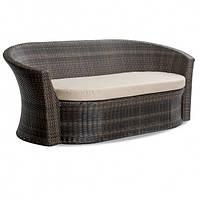 Плетеный диван 200 см коричневый из ротанга искусственного Диско (Disco-04)