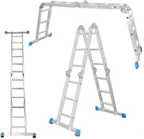 Лестницы-трансформеры Шарнирная лестница-стремянка 4*3 4*4
