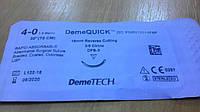 Шовный материал DemeQuick 4/0, 16 мм обратно-режущая игла 3/8 окружности, нить 75 см