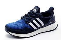 Кроссовки Adidas Ultra Boost унисекс, текстиль, темно-синие с синим, р. 38