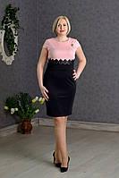 Нарядное платье вшитым поясом с гипюра