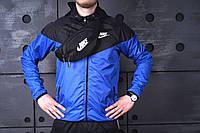 Барсетка мужская, сумка через плечо, на пояс, бананка, черный Nike