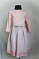 Детское платье, для девочки, с кружевом