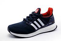 Кроссовки Adidas Ultra Boost унисекс, текстиль, темно-синие, р. 37 38 39