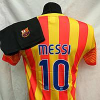 Футбольная форма детская подростковая  BARCELONA Messi желто-красная