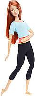 Кукла Барби Йога Двигайся как я (Barbie Made to Move Doll Red Hair)