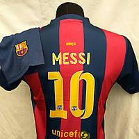 Футбольная форма детская подростковая  BARCELONA Messi гранатово-синяя