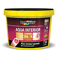 Лак интерьерный AQUA INTERIOR 1л (глянец) - Универсальный акриловый лак (Композит Аква Интериор)