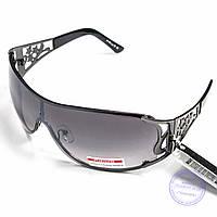 Оптом женские солнцезащитные очки-маска - Черные - P2807