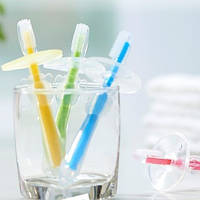 Детская силиконовая зубная щетка с ограничителем