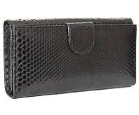 Женский кошелек из кожи питона (PT 043 Black)