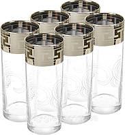 """Набор стаканов 290 мл GE01-402 рисунок """"Греческий узор""""6 шт."""