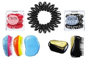 Расчески Tangle Teezer, резинки для волос INVISIBOBBLE