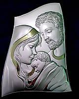Лики Святого семейства Икона, покрытая серебром