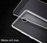Силиконовый прозрачный чехол для Meizu M3 Max