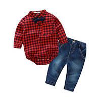 Комплект для мальчика 1,5-2 года джинсы + бодик 4878454 COCKCON Китай