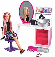 Набор Барби Блестящие прически блондинка (Barbie Sparkle Style Salon Blonde Doll Playset )