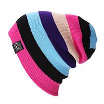Молодежная вязаная шапка