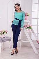 Невероятно красивый и стильный костюм тройка, состоит из майки, кофты и брюк.