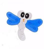 Силиконовый миниковрик Стрекоза с синими крыльями
