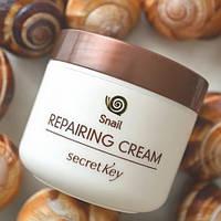 Восстанавливающий крем SECRET KEY Snai Repairing Cream с экстрактом слизи улитки.