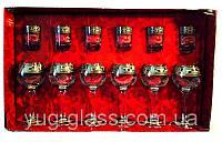 """Набор 12 предметный  GE01-411/837 рисунок """"Греческий узор"""" (бокалы 290 мл для вина и стопки 50"""