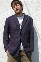 Стильный льняной пиджак из натурального льна. Синий, белый, черный, серый, красный лен, фото 1