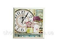 Винтажные настенные часы картина в стиле Прованс