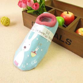 Носки - следы антискользящие Le Sucre Бирюзовые с розовой резинкой