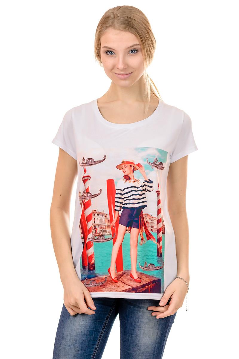 Женская футболка принт фото F2025
