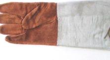 Перчатки спилковые (с крагами) на подклаке