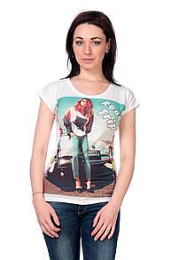 Женская футболка принт фото F2027