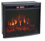 Электрический камин Bonfire EL1537В с закругленным стеклом (Новинка: инфракрасный обогрев)