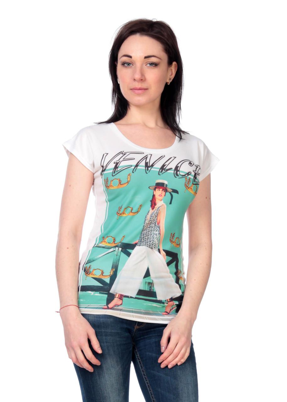 Жіноча футболка принт фото F2036
