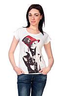 Женская футболка принт фото F2043