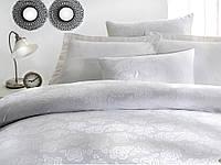 Постельное белье Issimo Home ROSEBERRY WHITE (BEYAZ) жаккардовое