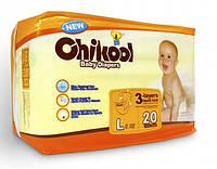 Подгузники Chikool Basic L (10-17 кг), 20 шт