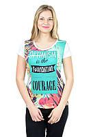 Женская футболка принт фото К3115
