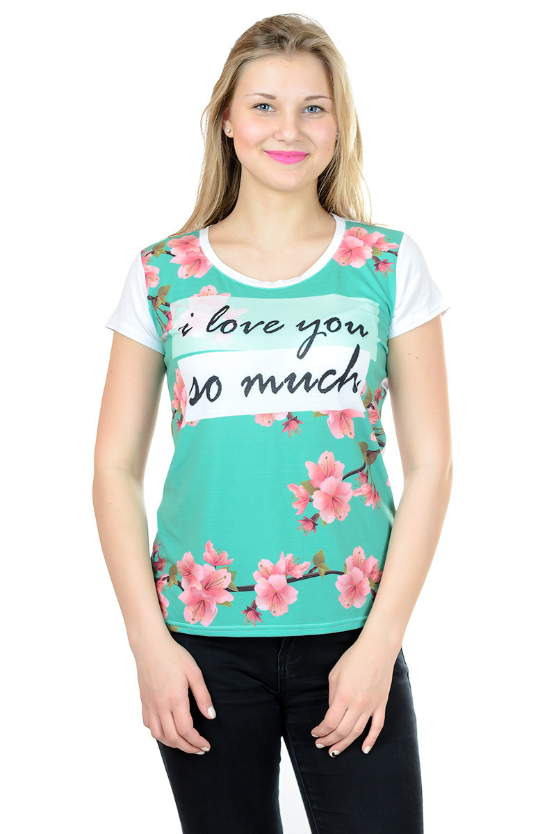 Жіноча футболка принт фото К3116