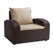 Кресло плетеное Barbados из ротанга искусственного коричневое