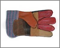 Перчатки кожаные (комбинированные)