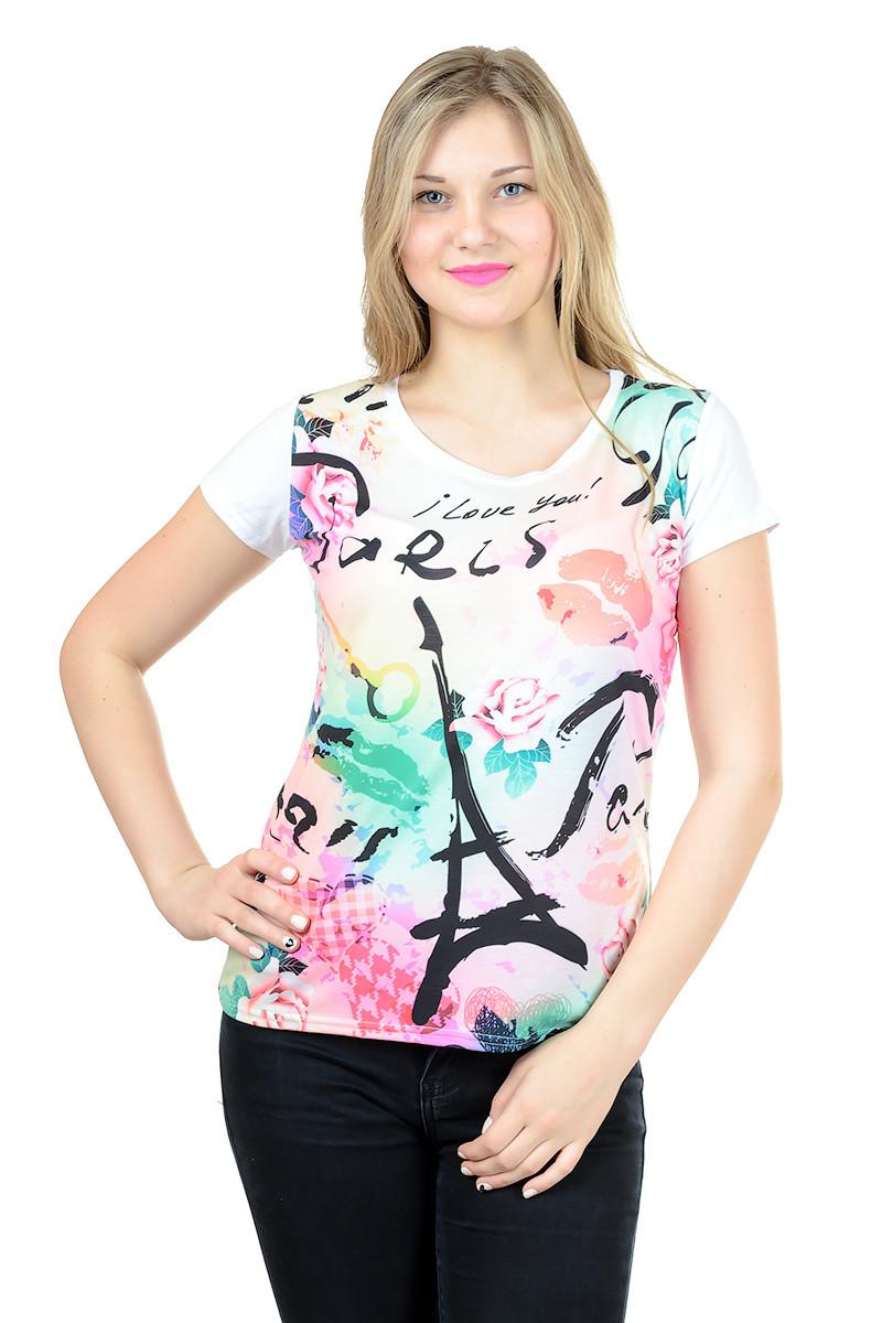 Женская футболка принт фото К3119