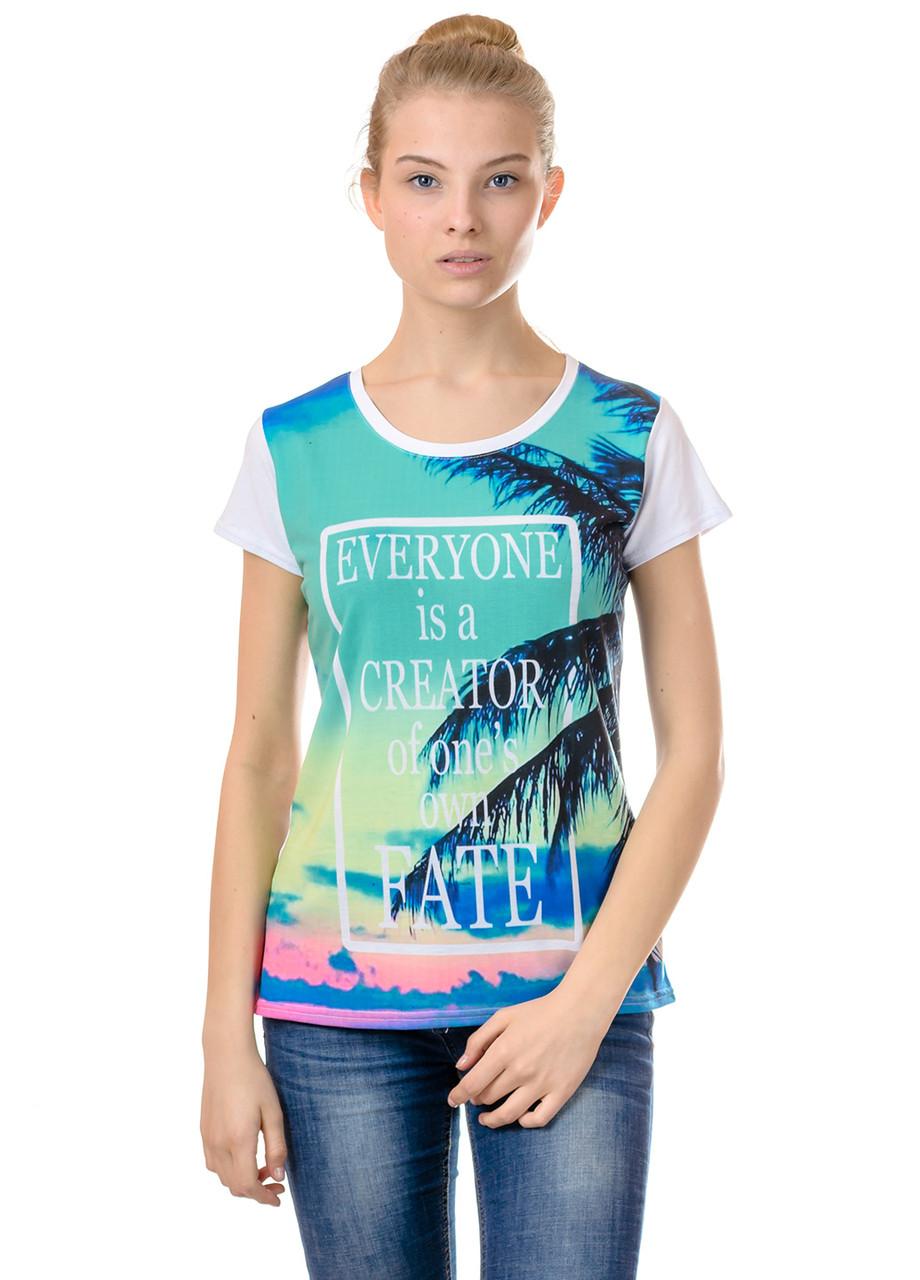 Женская футболка принт фото К3123, фото 1