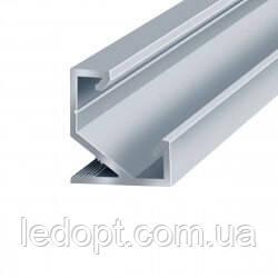 Алюминиевый профиль угловой (ОПТ) для светодиодной Led ленты + рассеиватель