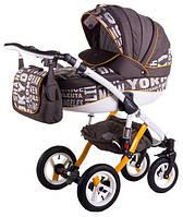 Универсальная коляска 2в1 Adamex Aspena World Collection City Brown