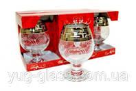 """Набор бокалов для бренди 250 мл GE01-483 """"Эдем """" рисунок """" Греческий узор"""" 6 шт."""