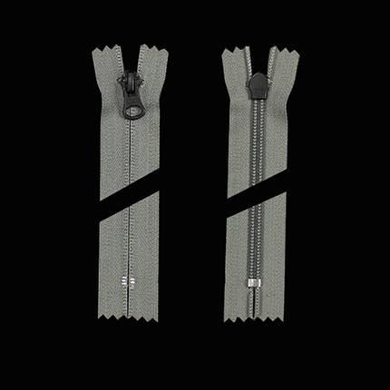 Молния YKK 11 см тип 5, цвет 275 (серый), фото 2