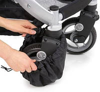 Защитный чехол- мешочек с утяжкой  для поворотных колес коляски или велосипеда. Ткань спанбонд.