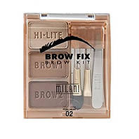 Набір для корекції брів Milani brow fix brow kit 02 Medium